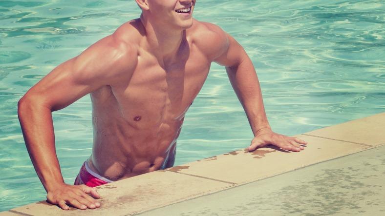 Mann mit mehr Muskelmasse